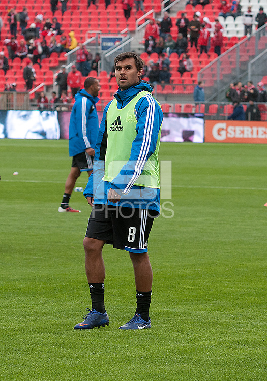 24 March 2012: San Jose Earthquakes forward Chris Wondolowski #8 in action during the warm-up in a game between the San Jose Earthquakes and Toronto FC at BMO Field in Toronto..The San Jose Earthquakes won 3-0..