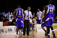 Saints&rsquo; Coach Kevin Braswell in action during the NBL - Cigna Saints v Hawkes Bay Hawks at TSB Arena, Wellington, New Zealand on Sunday 27 May 2018.<br /> Photo by Masanori Udagawa. <br /> www.photowellington.photoshelter.com