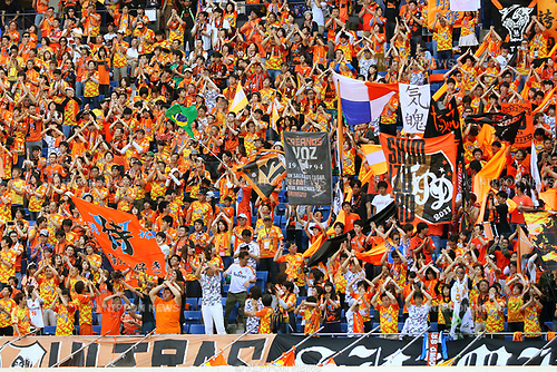Shimizu S-Pulse fans, <br /> MAY 5, 2017 - Football / Soccer : <br /> 2017 J1 League match between <br /> Gamba Osaka 1-1 Shimizu S-Pulse <br /> at Suita City Football Stadium, Osaka, Japan. <br /> (Photo by AFLO SPORT)