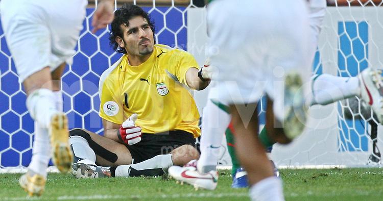 FussballInternational WM 2006 Vorrunde Mexiko-Iran Ebrahim Mirzapour (IRN) nach dem 3:1