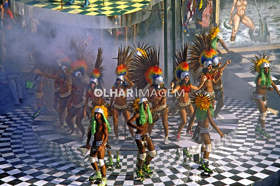 Desfile de carnaval da Padre Miguél, Rio de Janeiro. 1987. Foto de Juca Martins.