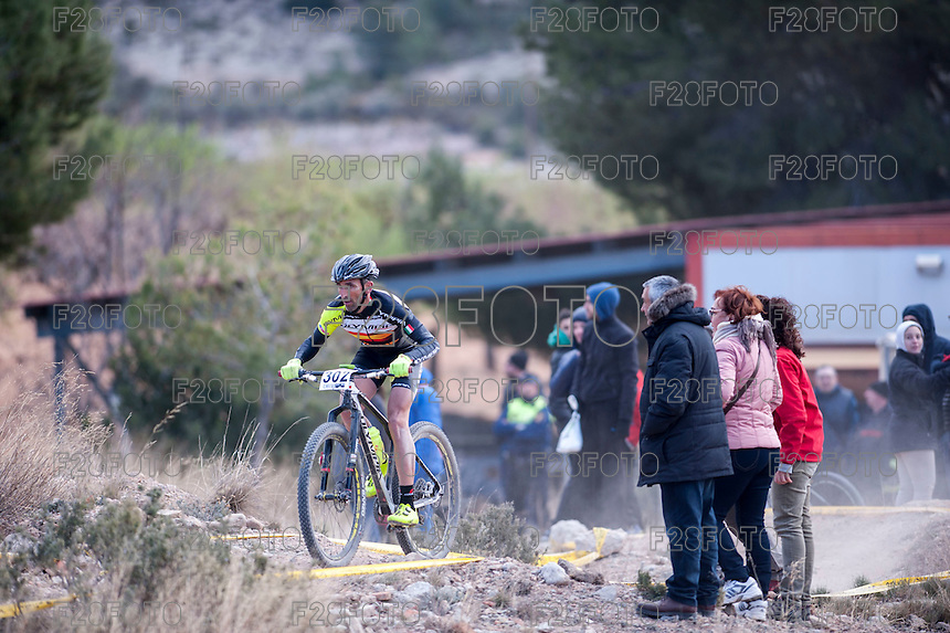 Chelva, SPAIN - MARCH 6: Jose Maria Guerrero during Spanish Open BTT XCO on March 6, 2016 in Chelva, Spain