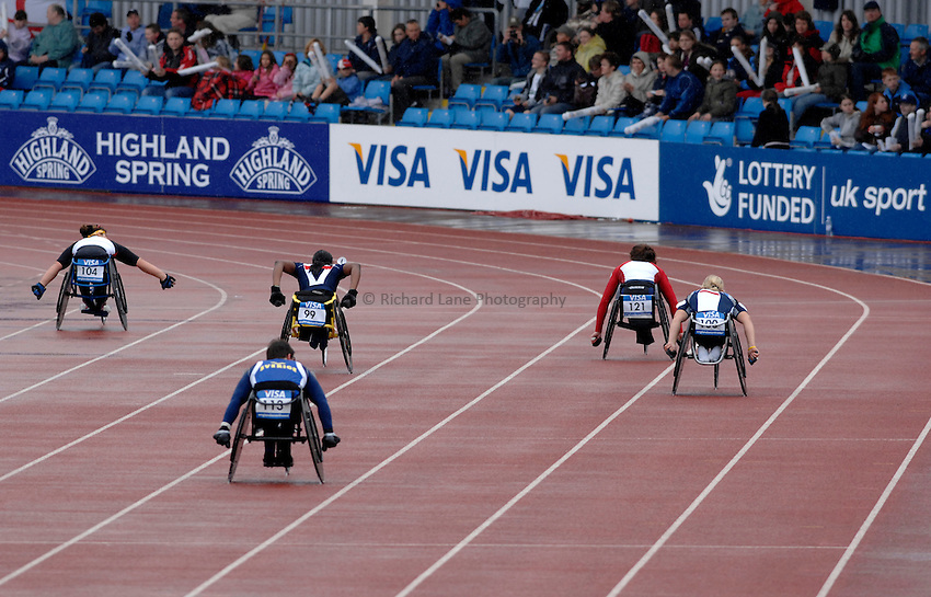 Photo: Richard Lane..VISA Paralympic World Cup 2007. Athletics. 13/05/2007. .Women's T54 400m.