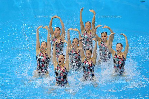 Japan team group (JPN), <br /> SEPTEMBER 21, 2014 - Synchronized Swimming : <br /> Women's Team Technical Routine <br /> at Munhak Park Tae-hwan Aquatics Center <br /> during the 2014 Incheon Asian Games in Incheon, South Korea. <br /> (Photo by YUTAKA/AFLO SPORT) [1040]