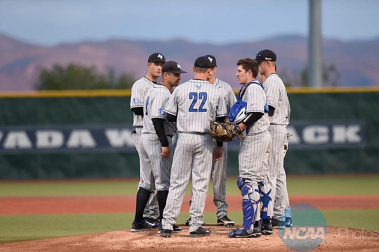 20 MAY 2015: The 2015 Mountain West Baseball Championship held at the University of Nevada Reno at William Piccolo Park in Reno, NV. Justin Tafoya/NCAA Photos