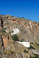 A monastery built into the rock in Kythera island, Greece