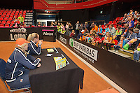 April 18, 2015, Netherlands, Den Bosch, Maaspoort, Fedcup Netherlands-Australia, Kids pressconference <br /> Photo: Tennisimages/Henk Koster