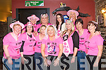 Party Hens: Liz Brosnan, Spa Road, Tralee (seated centre) with her hens who gathered in the Rock Inn pub, Tralee last Friday evening before boarding a bus for the West County Hotel in Ennis to celebrate her hen night. Front l-r: Angela Brosnan, Sharon Looney, Siobha?n Lynch, Liz and Clodagh Brosnan, Kerry Griffin and Joan Naughton. Back l-r: Marian and Maura Griffin, Shauna Dennehy and Michelle Lynch.