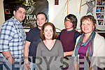 Taking part in the CCE Barr na Sraide fundraising quiz in The Fertha Bar Cahersiveen on Friday night were l-r; Richie O'Connell, Rory McCarthy, Myra Hulme, Jonathan Clifford & Laoise Egan.