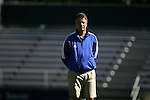 Robbie Church, Duke's head coach, on Sunday, October 16th, 2005 at Duke University's Koskinen Stadium in Durham, North Carolina. The Duke University Blue Devils defeated the University of Maryland Terrapins 1-0 during an NCAA Division I Women's Soccer game.