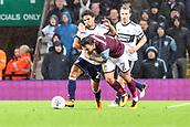 12th September 2017, Villa Park, Birmingham, England; EFL Championship football, Aston Villa versus Middlesbrough; Robert Snodgrass of Aston Villa earns a free kick on the edge of the box