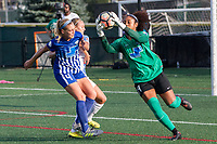 Allston, MA - Saturday August 19, 2017: Megan Oyster, Abby Smith during a regular season National Women's Soccer League (NWSL) match between the Boston Breakers and the Orlando Pride at Jordan Field.