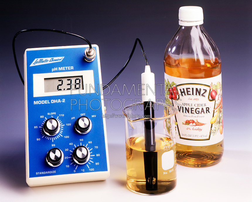 pH METER: MILK OF MAGNESIA & VINEGAR<br /> (2 of 2) Vinegar<br /> The pH of vinegar is 2.38.