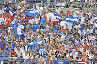 Honduras Fans supporting the team during the game. Honduras defeated Costa Rica 1-0 at the quaterfinal game of the Concacaf Gold Cup, M&T Stadium, Sunday July 21 , 2013.