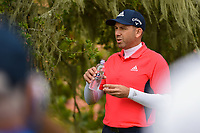Sergio Garcia (ESP) after hitting his tee shot on 2 during round 1 of the 2019 US Open, Pebble Beach Golf Links, Monterrey, California, USA. 6/13/2019.<br /> Picture: Golffile | Ken Murray<br /> <br /> All photo usage must carry mandatory copyright credit (© Golffile | Ken Murray)