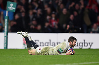 Elliot Daly of England scores a try in the second half. Old Mutual Wealth Series International match between England and Australia on November 18, 2017 at Twickenham Stadium in London, England. Photo by: Patrick Khachfe / Onside Images