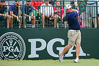William McGirt (USA) watches his tee shot on 10 during Wednesday's preview of the PGA Championship at the Quail Hollow Club in Charlotte, North Carolina. 8/9/2017.<br /> Picture: Golffile | Ken Murray<br /> <br /> <br /> All photo usage must carry mandatory copyright credit (&copy; Golffile | Ken Murray)
