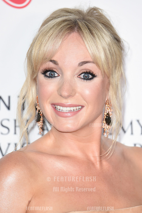 Helen George in the winners room for the BAFTA TV Awards 2018 at the Royal Festival Hall, London, UK. <br /> 13 May  2018<br /> Picture: Steve Vas/Featureflash/SilverHub 0208 004 5359 sales@silverhubmedia.com