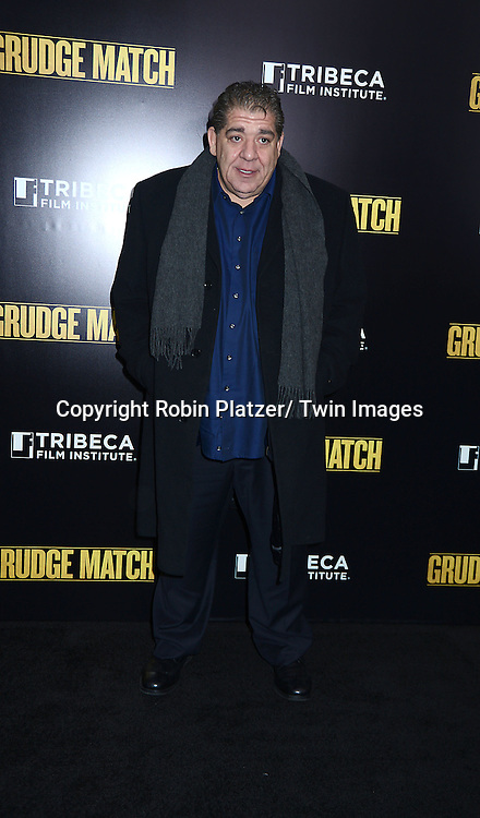 "Joey Diaz attends the World Premiere of ""Grudge Match"" at the Ziegfeld Theatre in New Yok City on December 16, 2013."