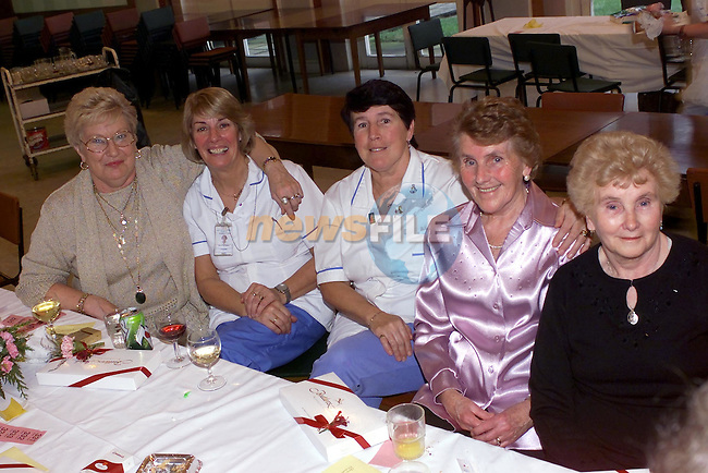 Peggy Gorman Forest grange, Maura McNamara Annivelle Crescent, Cathleen Thornton Trinity Gardens, Cathleen Lynch ballsgrove and Annie McDonnell Pears Park at the Lourdes Pensioners Party..Picture Fran Caffrey Newsfile.