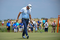 Marc Leishman (AUS) reacts to missing his putt on 10 during round 3 of the AT&amp;T Byron Nelson, Trinity Forest Golf Club, at Dallas, Texas, USA. 5/19/2018.<br /> Picture: Golffile | Ken Murray<br /> <br /> <br /> All photo usage must carry mandatory copyright credit (&copy; Golffile | Ken Murray)