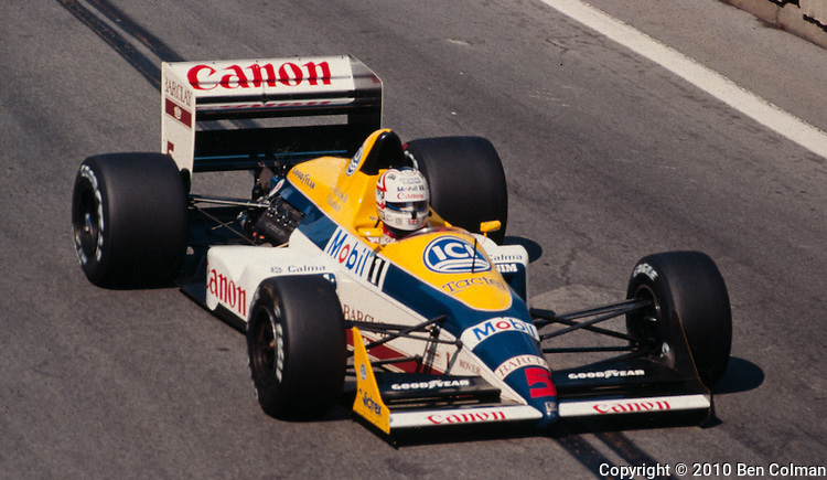 Nigel Mansell, Williams FW11B, Detroit 1987
