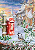 Marcello, CHRISTMAS ANIMALS, WEIHNACHTEN TIERE, NAVIDAD ANIMALES, paintings+++++,ITMCXM2162C,#xa# ,post box