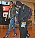 Jada Pinkett Smith, Willow Smith, Tokyo, Japan, May 7, 2012 : Jada Pinkett Smith(L) and her daughter Willow Smith arrive at Haneda Airport in Tokyo, Japan on May 7, 2012.