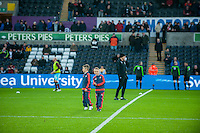 during the Barclays Premier League match between Swansea City and West Ham United played at the Liberty Stadium, Swansea  on December 20th 2015