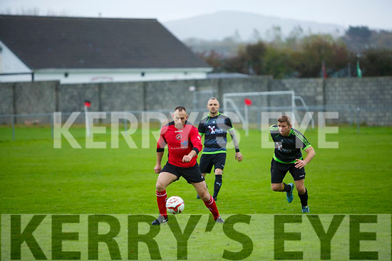 Munster Junior Cup 1st Round Tralee Dynamos v Tralee Celtic at Cahermoneen on Sunday In Action Dynamos's Oliver Coffey, Celtic's Billy Stack and James Sugrue