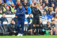 Tottenham Hotspur Manager Mauricio Pochettino is lost in thought on the sideline during Brighton & Hove Albion vs Tottenham Hotspur, Premier League Football at the American Express Community Stadium on 5th October 2019