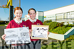 Clodagh Hickey and Shona O'Connor, pupils from St. Brendan's National School, Fenit, have been awarded prizes for their entries into the 'Draw Your Life In Black And White' competition, which was run by Tama Farm Grown Solutions.
