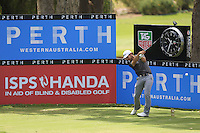Bryden MacPherson (AUS) on the 18th tee during Round 1 of the ISPS HANDA Perth International at the Lake Karrinyup Country Club on Thursday 23rd October 2014.<br /> Picture:  Thos Caffrey / www.golffile.ie