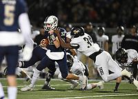 NWA Democrat-Gazette/CHARLIE KAIJO Bentonville West quarterback Dalton Mcdonald (12) carries the ball, Friday, November 8, 2019 during a football game at Bentonville West High School in Centerton.