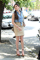 """July 09, 2012 Hailee Steinfeld shooting on location for the new VH-1 film, """"Can a Song Save Your Life ?"""" in New York City. © RW/MediaPunch Inc."""