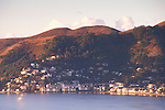 Overlooking Richardson Bay toward the tourist town of Sausalito and coastal hills, Marin County, California