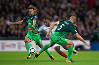 England's Raheem Sterling in action <br /> <br /> Photographer Craig Mercer/CameraSport<br /> <br /> FIFA World Cup Qualifying - European Region - Group F - England v Solvenia - Thursday 5th October 2017 - Wembley Stadium - London<br /> <br /> World Copyright &copy; 2017 CameraSport. All rights reserved. 43 Linden Ave. Countesthorpe. Leicester. England. LE8 5PG - Tel: +44 (0) 116 277 4147 - admin@camerasport.com - www.camerasport.com