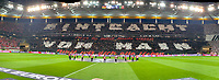 Choreographie der Fans von Eintracht Frankfurt - 18.04.2019: Eintracht Frankfurt vs. Benfica Lissabon, UEFA Europa League, Viertelfinale, Commerzbank ArenaDISCLAIMER: DFL regulations prohibit any use of photographs as image sequences and/or quasi-video.