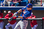 13 March 2014: New York Mets outfielder Matt den Dekker in action during a Spring Training game against the Washington Nationals at Space Coast Stadium in Viera, Florida. The Mets defeated the Nationals 7-5 in Grapefruit League play. Mandatory Credit: Ed Wolfstein Photo *** RAW (NEF) Image File Available ***