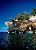 Lover's Leap along the shoreline of Lake Superior is in the Pictured Rocks National Shoreline in Alger county of Michigan's Upper Peninsula.