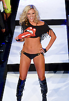 Miami Dolphins Cheerleader, Georgia, walks runway at Miami Dolphins Cheerleaders 2013 Swimsuit Calendar Unveiling Fashion Show at LIV Nightclub in The Fontainebleu Miami Beach Hotel, Miami Beach, FL on August 26, 2012