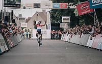 Mathieu van der Poel (NED/Beobank-Corendon) wins the first CX race of the season<br /> <br /> CX Brico Cross Eeklo 2017 (BEL)