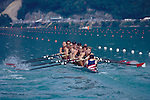 Rowing, FISA Rowing World Championships, Lac Aiguebelette,  France, Europe, United States men's winning gold medal eight  in the neats, 1997.