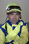 SANTA ANITA, CA- MARCH 31:  Corey Nakatani poses for a portrait during the Jockey's II Portrait Shoot at the Santa Anita Race Track on March 31, 2009 in Santa Anita, California. (Photo by Donald Miralle for Discovery Communications)