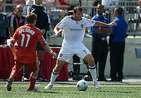 06 June 2009: Los Angeles Galaxy midfielder Chris Klein #7 andToronto FC midfielder Jim Brennan #11 in MLS action at BMO Field Toronto in a game between LA Galaxy and Toronto FC. .The Galaxy  won 2-1.
