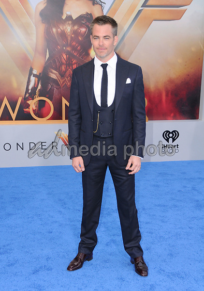 """25 May 2017 - Hollywood, California - Chris Pine. World  Premiere of Warner Bros. Pictures'  """"Wonder Woman"""" held at The Pantages Theater in Hollywood. Photo Credit: Birdie Thompson/AdMedia"""