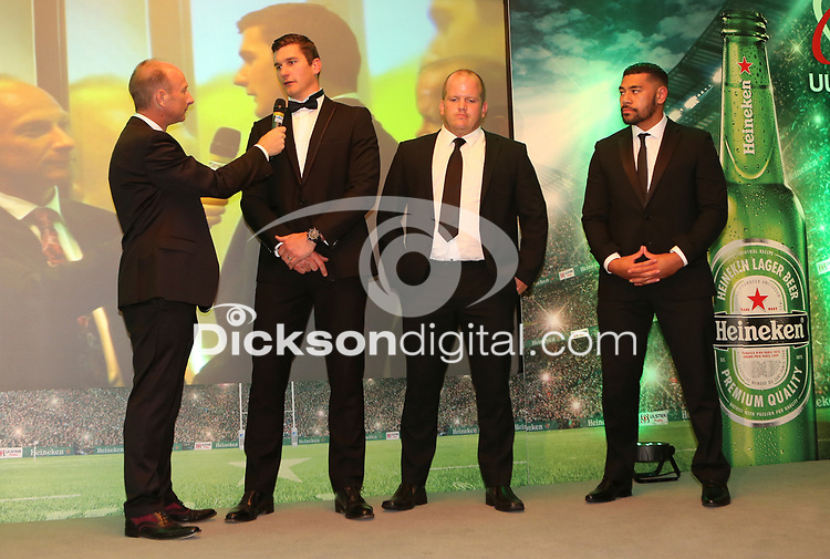 Thursday 10th May 2018 | Ulster Rugby Awards 2018<br /> <br /> Stephen Watson interviews Robbie Diack, during the 2018 Heineken Ulster Rugby Awards at La Mom Hotel, Belfast. Photo by John Dickson / DICKSONDIGITAL