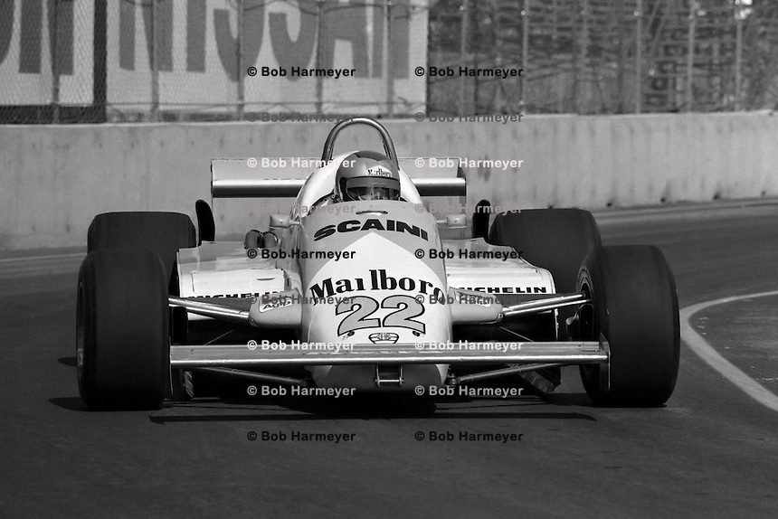 LAS VEGAS, NV - OCTOBER 17: Mario Andretti drives the Alfa Romeo 179D 02/Alfa 1260 during the Caesar's Palace Grand Prix FIA Formula One World Championship race on the temporary circuit in Las Vegas, Nevada, on October 17, 1981.