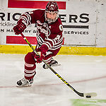 15 November 2015: University of Massachusetts Minuteman Forward Dennis Kravchenko, a Sophomore from Laguna Niguel, CA, in action against the University of Vermont Catamounts at Gutterson Fieldhouse in Burlington, Vermont. The Minutemen rallied from a three goal deficit to tie the game 3-3 in their Hockey East matchup. Mandatory Credit: Ed Wolfstein Photo *** RAW (NEF) Image File Available ***