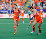 The Hague, Netherlands, June 12: Carlien Dirkse van den Heuvel #9 of The Netherlands looks on during the field hockey semi-final match (Women) between The Netherlands and Argentina on June 12, 2014 during the World Cup 2014 at Kyocera Stadium in The Hague, Netherlands. Final score 4-0 (3-0)  (Photo by Dirk Markgraf / www.265-images.com) *** Local caption ***
